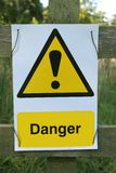 Danger sign. Hazard sign Stock Photos