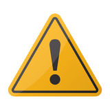 Danger sign. Hazard warning attention sign on a white background Royalty Free Stock Photo