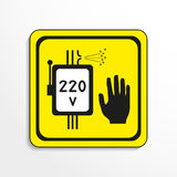 Danger sign. High voltage. Vector icon. Royalty Free Stock Photo