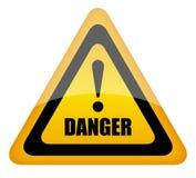 Danger sign illustration Royalty Free Stock Photo