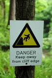 Danger. Sign - Keep away from cliff edge Stock Images