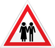 Danger Sign Married Wedding Stock Image