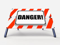 Danger Sign Means Beware Caution or Dangerous Stock Photography