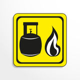 Danger sign. Open flame. Vector icon. Stock Photo