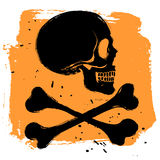 Danger sign on orange background Stock Photos