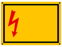 Danger Sign - Relief. Danger / High Voltage warning sign with relief and copyspace isolated on white Royalty Free Stock Image
