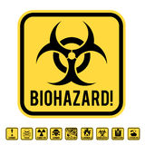 Danger sign. Set of danger restricted and hazards signs button,  vector EPS8 illustration Royalty Free Stock Photo
