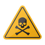 Danger sign. Skull and crossbones sign on a white background Stock Photography