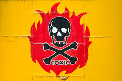 Danger sign. With skull symbol Royalty Free Stock Images