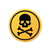 Danger sign with skull symbol Stock Photography