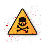 Danger sign with skull symbol Royalty Free Stock Image