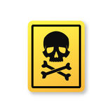 Danger sign with skull symbol Royalty Free Stock Photos