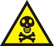 Danger sign with skull symbol. Deadly danger sign, warning sign, Royalty Free Stock Images