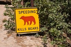 Danger sign, Speeding kills Bears Stock Image