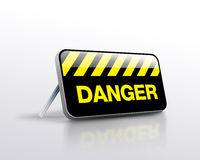 Danger sign standing Royalty Free Stock Photo