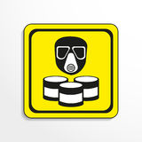 Danger sign. Toxic waste. Vector icon. Stock Images