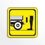 Danger sign. Transportation. Vector icon. Stock Photo