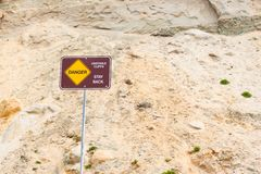 Danger sign, unstable sign Stock Images