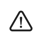 Danger sign vector icon. Attention caution illustration. Busines. S concept simple flat pictogram on white background Stock Images