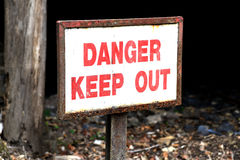 Danger sign. Royalty Free Stock Image