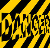 Danger sign. Danger sign in yellow and black Stock Image