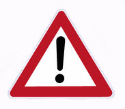 Danger signal. On a white background Stock Photography