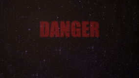 Danger Signal Alert with a Skull on an Old Dirty Screen stock illustration