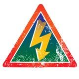 Danger ! Signal d'avertissement élevé de Volatge Images stock