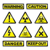 Danger signals. Vector illustration of danger signals vector illustration