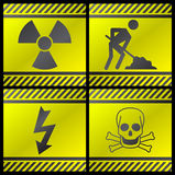 Danger signals Stock Photos