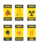 Danger signs Royalty Free Stock Photography
