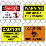 Danger Signs Stock Photo