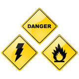 Danger signs Stock Photos