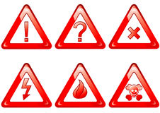 Danger signs set Stock Images