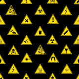 Danger signs types seamless pattern. Eps10 Stock Images