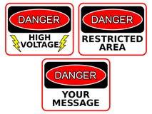 Danger Sings Royalty Free Stock Photos