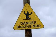 Danger Sinking Mud stock images