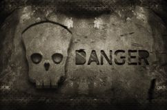 Danger skull Stock Photo
