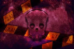 Danger skull. Background danger stone Stock Image