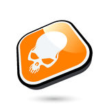 Danger skull icon Stock Images