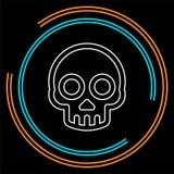 Danger skull icon, vector skull crossbones royalty free illustration