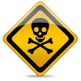 Danger skull sign royalty free illustration