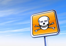 Danger skull sign Stock Photography