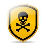 Danger skull sign vector illustration