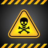 Danger skull sign vector illustration