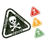 Danger skull stamp Royalty Free Stock Image