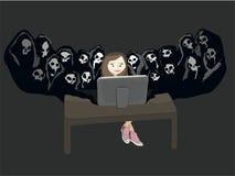 Danger social de réseau Photographie stock