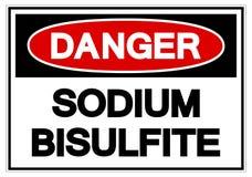 Danger Sodium Bisulfite Symbol Sign, Vector Illustration, Isolate On White Background Label. EPS10 royalty free illustration