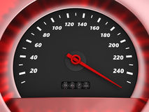 Danger speed. 3d illustration of speedometer with very danger speed Stock Image