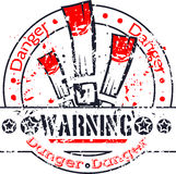 Danger stamp Stock Image